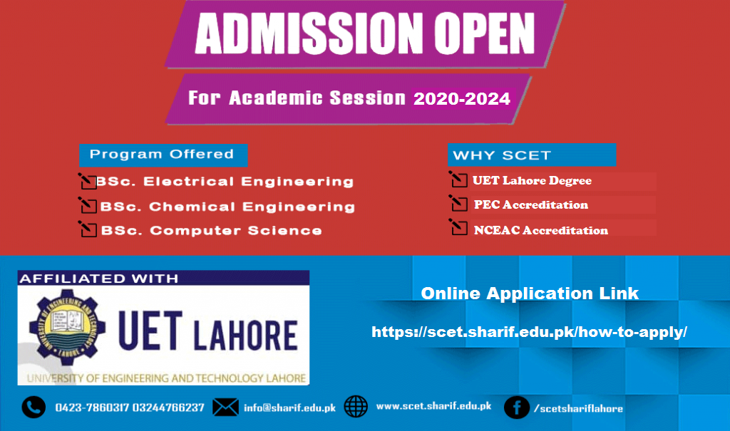 Admission Open for Academic Session 2020-2024