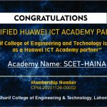 """Sharif College of Engineering and Technology is certified  as a Huawei ICT Academy partner"""