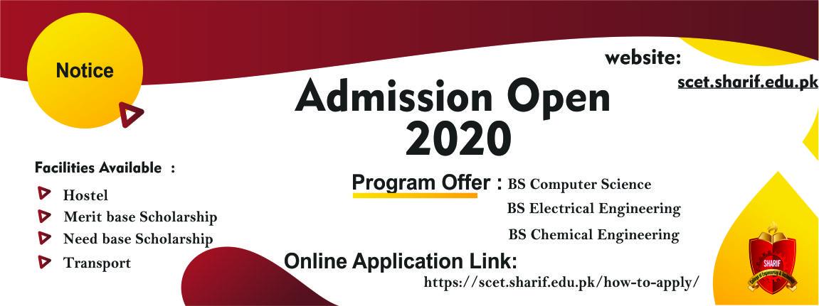 Admission Open 2020-Onward