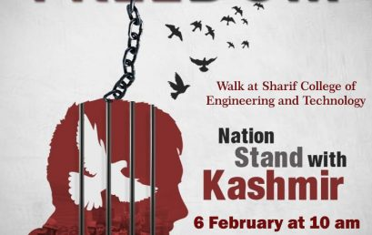 Kashmir Day Walk at SCET